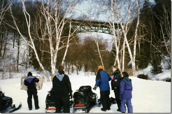snowmobiling at cutriver