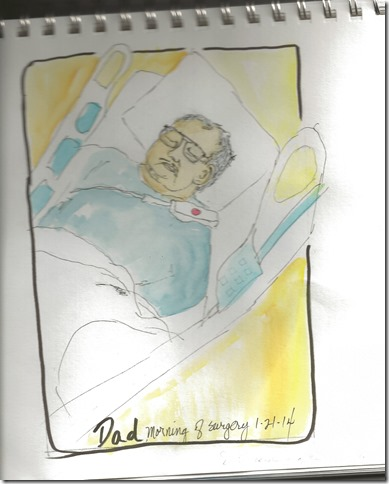 Stan in hosp drawing