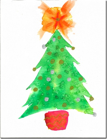 Watercolor Christmas Card 2014