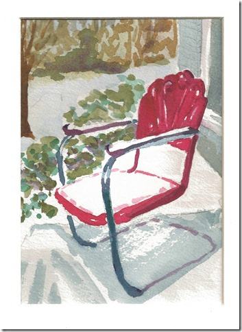 red chair watercolor
