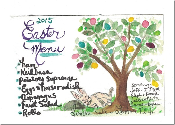 Easter menu watercolor